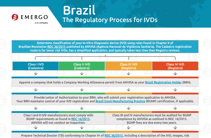 Download the free chart: Brazil IVDs Regulatory Approval Process for Medical Devices