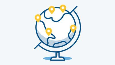 通过一个联络方进行全球市场代理
